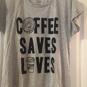 Freeze Tops - NWOT Coffee T-shirt
